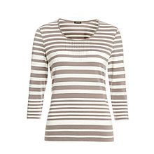 Buy Gerry Weber Stripe Sparkle Top, Taupe/Stone Online at johnlewis.com
