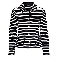 Buy Gerry Weber Stripe Popper Jacket, Navy/White Online at johnlewis.com