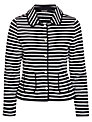 Gerry Weber Stripe Popper Jacket, Navy/White