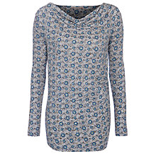 Buy Sandwich Jacquard Tweed Top, Navy Online at johnlewis.com