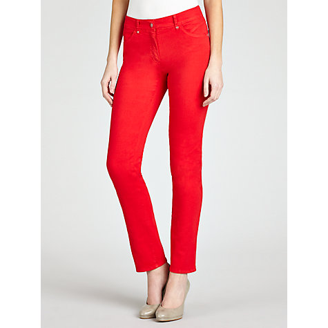 Buy Gerry Weber Straight Leg Jeans, Tomato Online at johnlewis.com