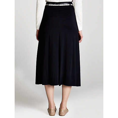 Buy Gerry Weber Long Skirt with Belt, Marine Online at johnlewis.com