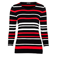 Buy Gerry Weber Knit Jumper, Red Stripe Online at johnlewis.com