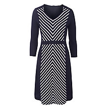 Buy Gerry Weber Cheron Jersey Dress, Navy/White Online at johnlewis.com