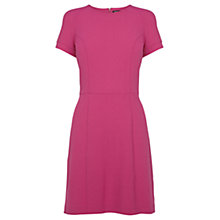Buy Warehouse Crepe T-Shirt Dress, Bright Pink Online at johnlewis.com