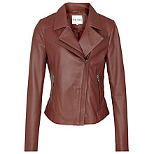 Buy Reiss Palermo Stitched Panel Jacket, Brick Online at johnlewis.com