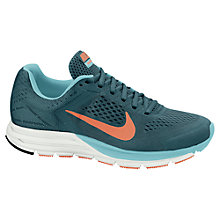 Buy Nike Women's Zoom Structure + 17 Running Shoes, Turquoise Online at johnlewis.com