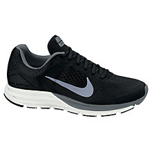 Buy Nike Men's Zoom Structure+ 17 Running Shoes, Black Online at johnlewis.com