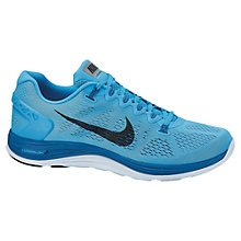 Buy Nike Men's LunarGlide+ 5 Running Shoes, Blue Online at johnlewis.com