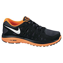 Buy Nike Men's Dual Fusion Running Shoes, Grey/Orange Online at johnlewis.com