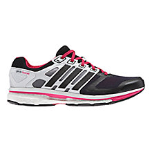 Buy Adidas Women's Supernova Glide 6 Running Shoes, Black/White Online at johnlewis.com