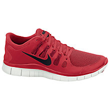 Buy Nike Men's Free 5.0+ Running Shoes, Red Online at johnlewis.com