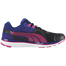 Buy Puma Women's Faas 500 v3 Running Shoe, Navy/Pink Online at johnlewis.com