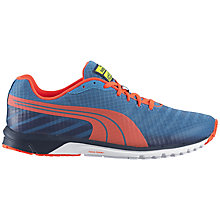 Buy Puma Faas 300 v3 Men's Running Shoe, Blue/Orange Online at johnlewis.com