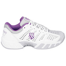 Buy K-Swiss Women's Big Shot Light Tennis Shoes, White/Purple Online at johnlewis.com