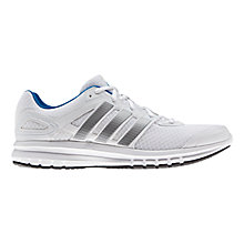 Buy Adidas Duramo 6 Men's Running Shoes, White/Silver Online at johnlewis.com