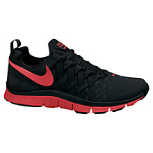 Buy Nike Men's Free 5 Cross Trainers, Black/Red Online at johnlewis.com