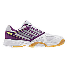 Buy Adidas Women's Opticourt Ligra 2 Indoor Court Trainers, White/Purple Online at johnlewis.com