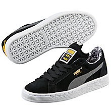 Buy Puma Children's Suede Batman Lace Up Trainers, Black/Grey Online at johnlewis.com