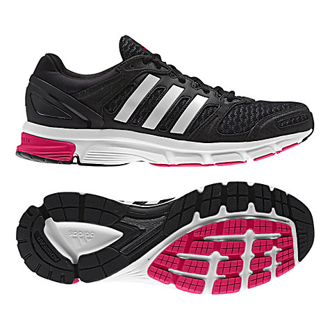 Buy Adidas Duramo Nova 2 Women's Running Shoes, Black/White Online at johnlewis.com