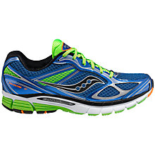 Buy Saucony Men's Guide 7 Running Shoes, Blue/Green Online at johnlewis.com