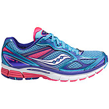 Buy Saucony Guide 7 Women's Running Shoes, Blue/Pink Online at johnlewis.com