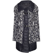 Buy James Lakeland Printed Faux Fur Coat, Grey Online at johnlewis.com