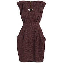 Buy Closet Print Dress, Wine Online at johnlewis.com