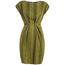 Buy Closet Printed Gather Waist Dress, Lime Online at johnlewis.com