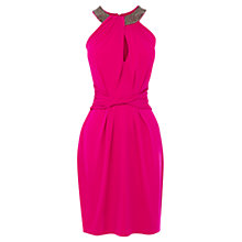 Buy Coast Eva Halter Dress, Pink Online at johnlewis.com