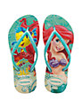 Havaianas Princess Ariel Girls' Flip Flops, Green