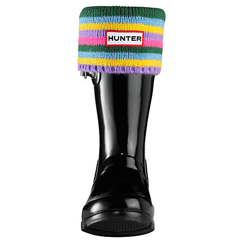 Buy Hunter Kids' Welly Stripe Socks Online at johnlewis.com