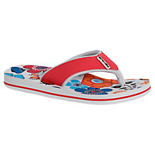 Buy Animal Childrens' Swish Floral Print Flip Flops, Multi Online at johnlewis.com