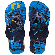 Buy Havaianas Max Heroes Batman Flip Flops, Blue Online at johnlewis.com