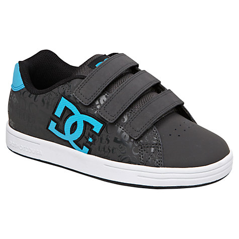 Buy DC Shoes Character Rip-Tape Strap Trainers, Black/Blue Online at johnlewis.com