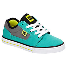 Buy DC Shoes Bristol Colour Block Canvas Trainers, Aqua/Grey Online at johnlewis.com