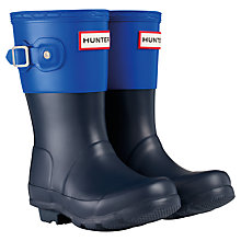 Buy Hunter Kids' Original Colour Block Wellington Boots Online at johnlewis.com