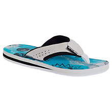 Buy Animal Childrens' Jekyl Pirate Boat Graphic Flip Flops, Blue/Grey Online at johnlewis.com