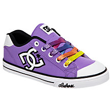 Buy DC Shoes Chelsea Canvas Trainers, Purple Online at johnlewis.com