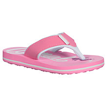 Buy Animal Childrens' Swish Logo Print Flip Flops, Pink Online at johnlewis.com