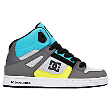 Buy DC Shoes Rebound Hi-Top Trainers, Grey/Multi Online at johnlewis.com