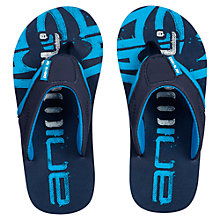 Buy Animal Boys' Jekyl Logo Print Flip Flops, Navy Online at johnlewis.com