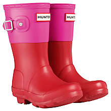 Buy Hunter Original Colour Block Wellington Boots, Red/Pink Online at johnlewis.com