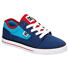 Buy DC Shoes Bristol Canvas Trainers, Blue/Red Online at johnlewis.com