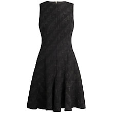 Buy Closet Lurex Waffle Dress, Black Online at johnlewis.com