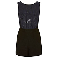 Buy Warehouse Hot Fix Playsuit, Midnight Online at johnlewis.com