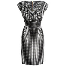Buy Closet Spot Printed Dress, Black/White Online at johnlewis.com