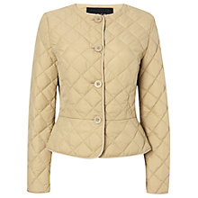 Buy Jaeger Quilted Peplum Jacket, Harvest Online at johnlewis.com
