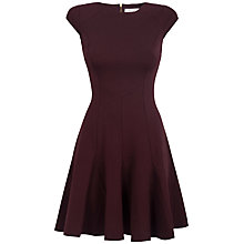 Buy Closet Godet Dress, Wine Online at johnlewis.com