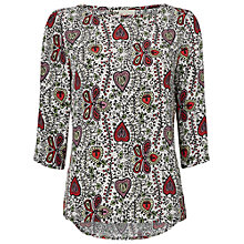 Buy Jaeger Vine Print Blouse, Multi Ivory Online at johnlewis.com